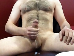 edging out a big load - pt ustad dripping down dick and balls
