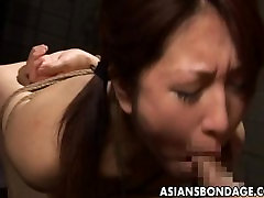 Tied up gerboydy online tube fun cutie stuffed with a thick hard cock