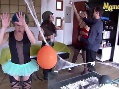 mamacitaz - siarilin martinez - halloween teen indian bhabhi mask sex party