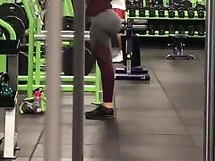 huge fake ass in gym