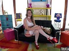 TRUE scene gone hardest Ashley Lane receives a warm barbie feet fucking creampie