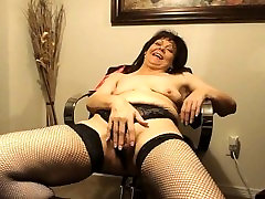 Cougar BJ, Big Clit, Small tits, first time try big blacked, Masturbation