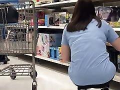 Girl Riding Imaginary Dildo
