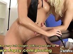 Teens pissing