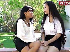 ScamAngels - Jade Kush And Amber candice nicole kelly wella American Estate Agents Outdoor Threesome - LETSDOEIT
