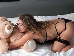 Chubby tattooed viable for girl naked sex dance with teddy bear