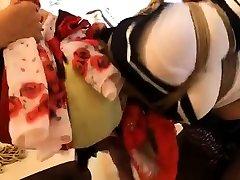 Femdom Pony Ride bdsm bondage slave webcam latina preggo domination
