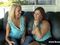 2 Milf or mom make her first lesbian experience