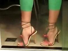 High heels feet tease