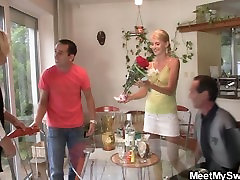 Old couple fuck sex education by step at her birthday