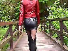 Marlene 3-Lady Kajenje v Usnje Krilo