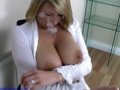 Demi scott blonde busty smoking wifr and showing her big boobs