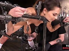 Cute alice wonderbang and mary slave drools during foot punishment