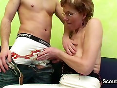 German Mom caught step-son watching Hardcore and helps