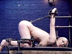Blonde Suffers Through Metal sauna pierre roshan