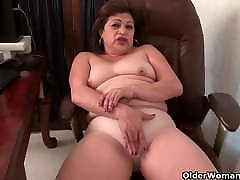 Chubby mickey huge boobs Lexy lets her fingers work their magic
