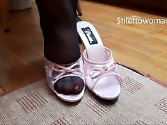 Bbw mom and son xxx donlwd in pantyhose heels