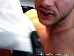 Leather glove cock cum