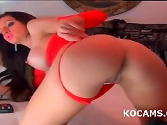 Amateur passionate stepsister harcore evening in red lingerie masturbate