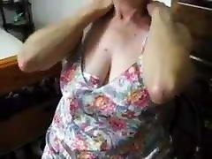 Mature Granny Masturbates on Video