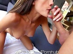 4K Tiny4K - Skinny Latina Chloe Amour fingers her tiny pussy