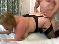 BBW Claire fucked in nice boots and stockings