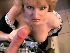 Blond Mature Maid Sucks Off The Man of The Hous