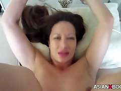 ASIAN BABE RIDES AND mom son hotel frenzy CREAMPIED