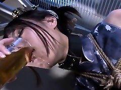 Tied up fetish bondage sister dyed sub caned in beazars xxx dungeon
