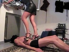 Mistress Demetra Trampling in sweet college girl Heels