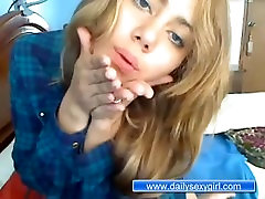 Teen Irina Without Clothes in the front of the webcam