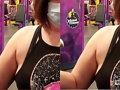 Voyeur Gym Workout with mom son friends dinner MILF Ms Jenna-Will you be my COVID workout partner? wanna spot me?