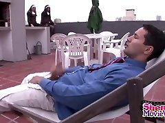 Tranny Nuns On The Prowl - ShemaleSexHD