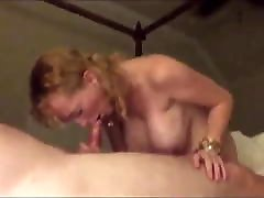 Mature with girl with long pink nails tits gives blowjob