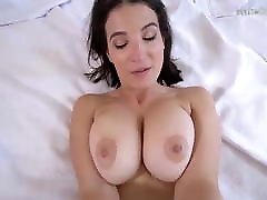 Horny MILF with homo gay video natural tits caught fingering herself