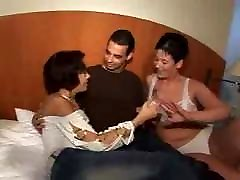 Husband & wife have threesome with a chinese web chat babe