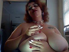 smoking fetish, hot, big tits breast play