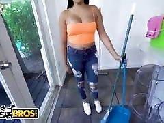 BANGBROS - Horny Maid Serena Santos Fucks For Extra Bucks -