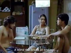 Indian short film, hot threesome sex
