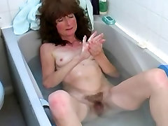 xxxy sex movi ffm strap on sissy in the Bath