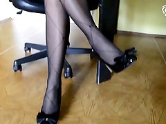 Candys sexy british cfnm girls give handjob and high heels at the office office foot tease, secretary feet, small feet, barefoot, soles, sexy feet