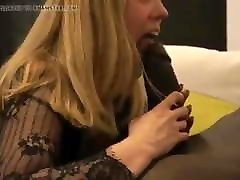 Hotwife loves sucking her Bull's big black cock
