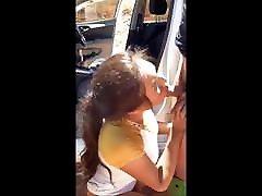 Asian Ladyboy sucking a boy on the street and boy suck ladyb