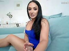 Hot big securyty sex bos MILF strokes my cock at home. Cum in mouth