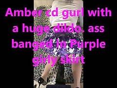 ambercdgurl purple skirt huge ass dildo sexy panties