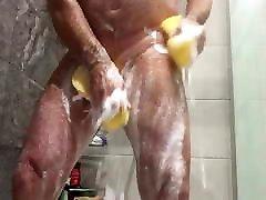 soapy sponge shower