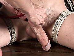 Hung Twink Aiden Ward Big Cock Edging - Gay Bondage BDSM