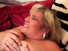 Slutty, Blonde Mature With Big, Saggy Tits Had Sex With A Younger Neighbor And Enjoyed It