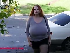 Big bouncing tits in a tight pullover