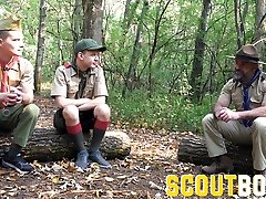 ScoutBoys lvonna watch bear fucks twink sons in the woods